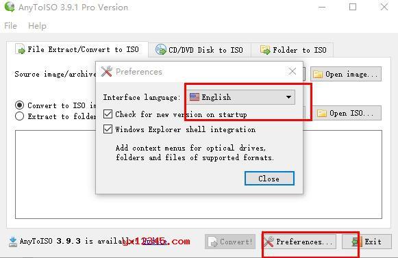 AnyToISO切换界面语言方法
