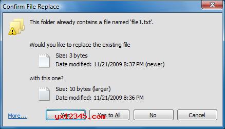 在XP中复制粘贴效果