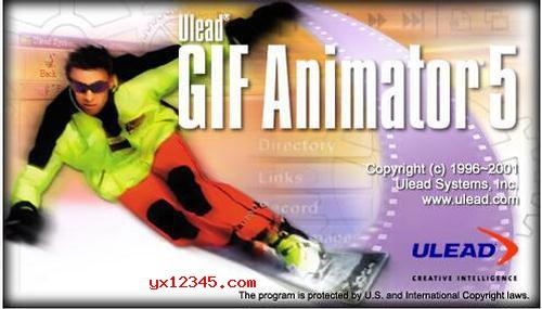 Ulead GIF Animator软件启动界面截图