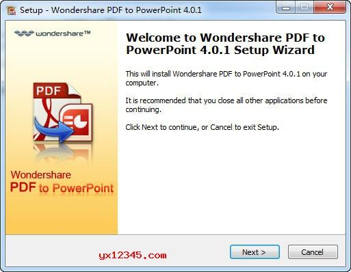 Wondershare PDF to PowerPoint安装方法