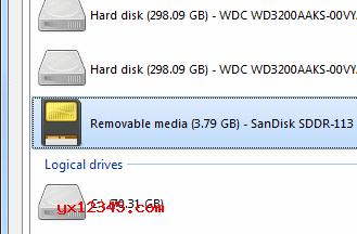启动DiskDigger,在恢复设备列表中选择刚识别的存储卡