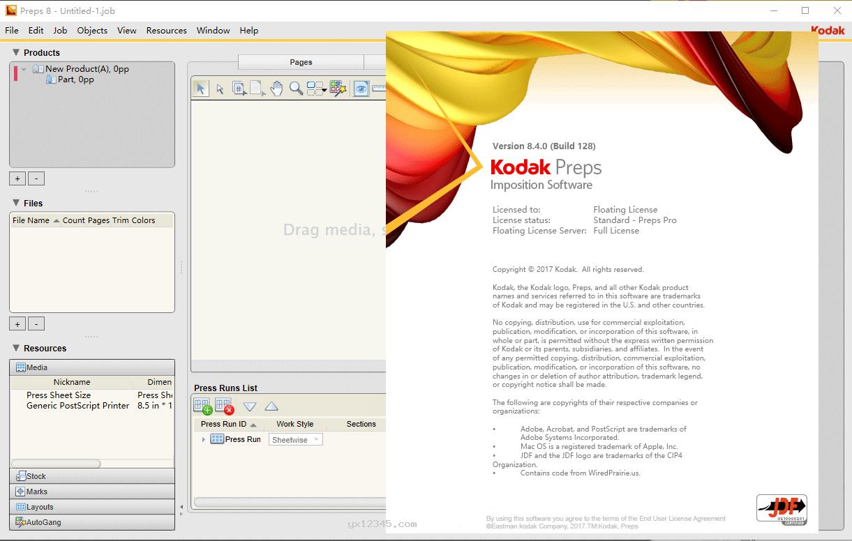覆盖替换后,到这一步kodak preps破解完成。