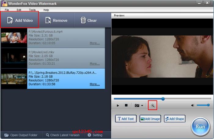 批量视频加水印软件_WonderFox Video Watermark