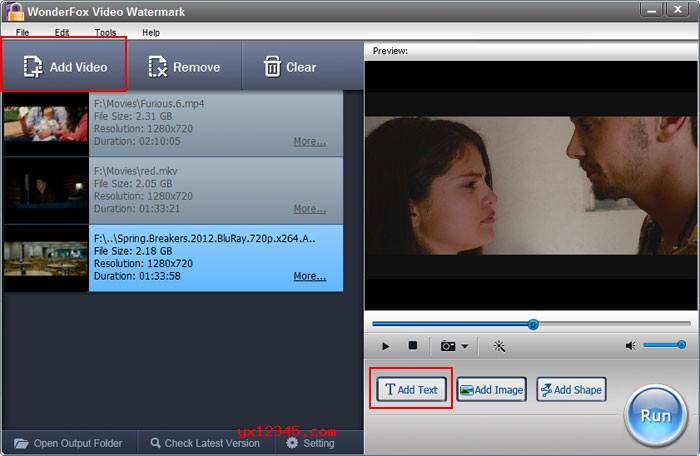WonderFox Video Watermark向视频加水印教程