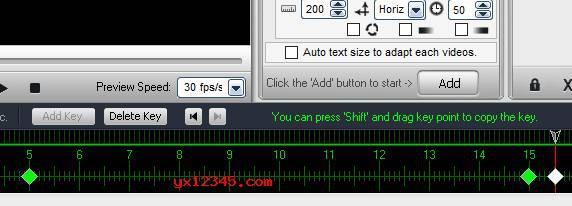 """对时间线进行调节,最后点击""""运行""""按钮就开始为视频加水印了。"""
