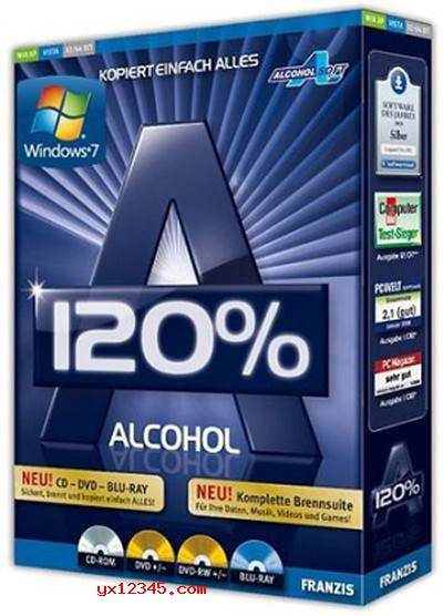 Alcohol 120%软件盒装海报