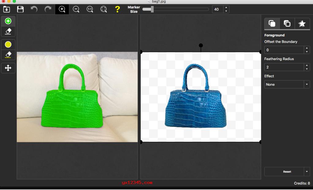 photoscissors更换照片背景教程