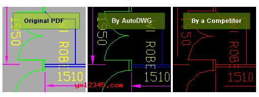 pdf转换成dwg/dxf文档效果展示