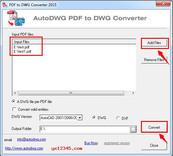 pdf批量转dwg/dxf格式方法