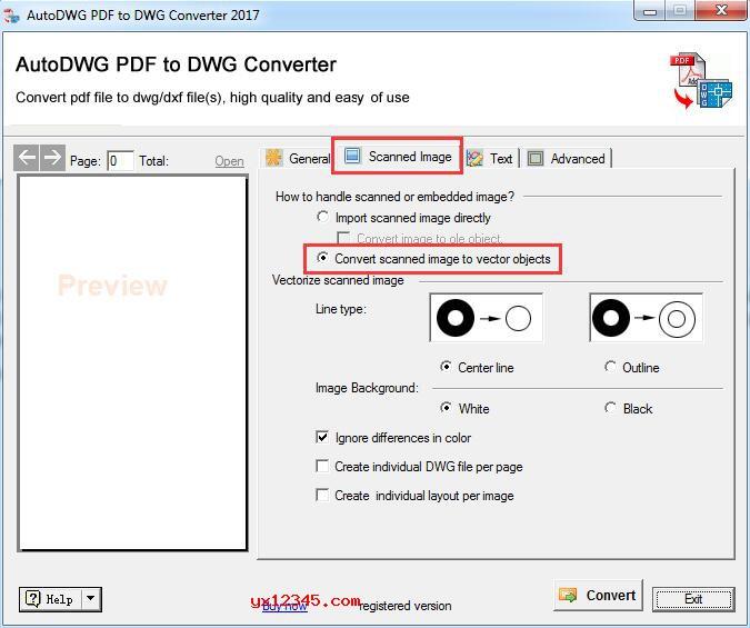 将扫描的pdf转换成为可编辑的dwg方法