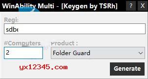 打好汉化补丁后,运行keygen.exe注册机生成注册码