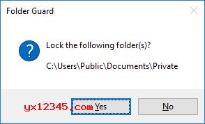 解锁后关闭文件夹会自动加锁