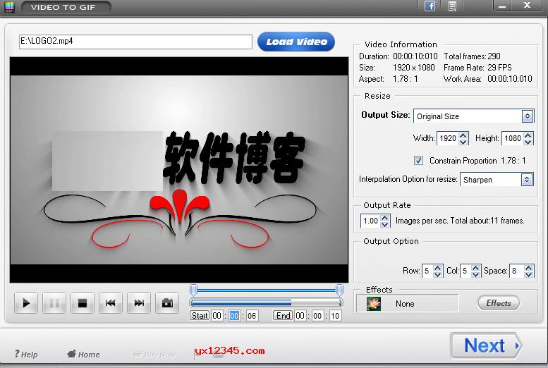 视频转换成gif动画工具_Video To Gif免费版