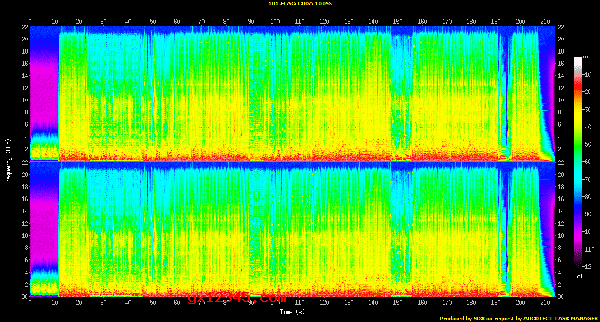 无损音乐文件声谱图