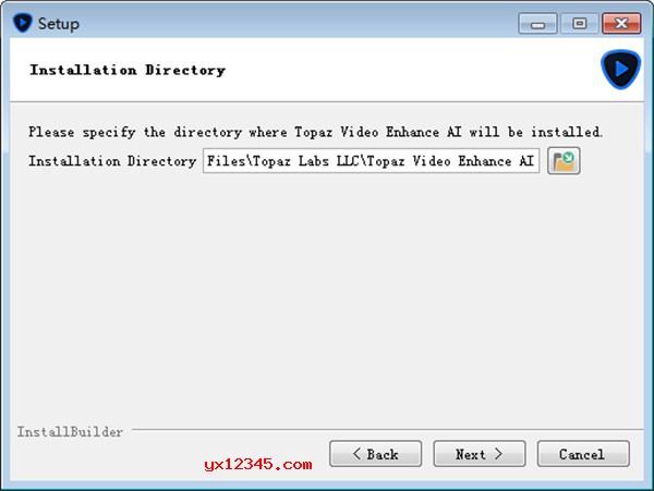 设置Topaz Video Enhance AI软件的安装路径