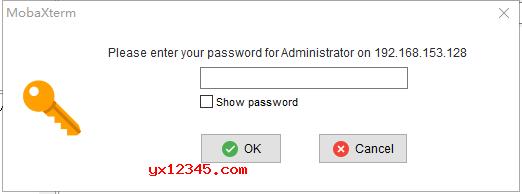 输入密码,点击ok,登录后就可以管理了。