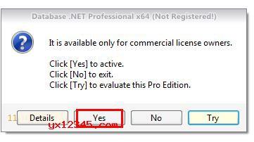 """解压压缩包,双击""""Database5Pro.exe""""安装官方软件"""
