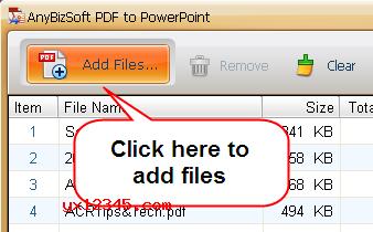 导入需要转换的PDF文件