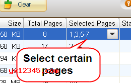选择要转换PDF页面
