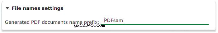 自定义文件名称