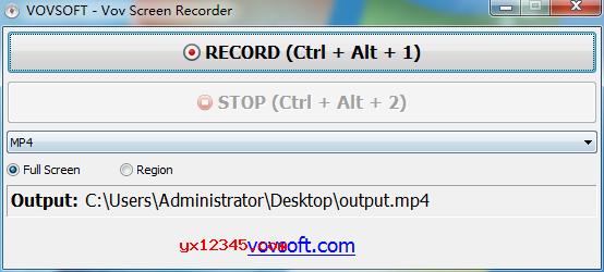 Vov Screen Recorder屏幕录像软件使用教程