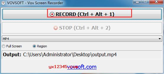 """点击""""RECORD""""按钮开始录制"""