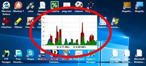 NetGraph电脑流量显示、流量监控软件_显示上传和下载流量