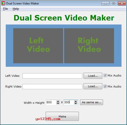 Dual Screen Video Maker双屏视频制作器_合并视频同时播放两部