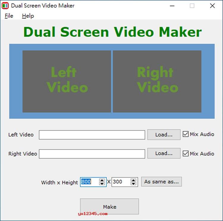 Dual Screen Video Maker使用教程