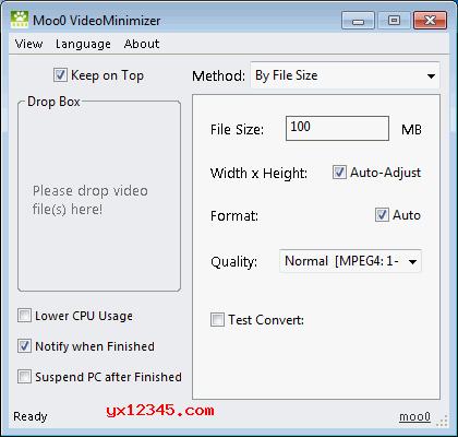 Moo0 Video Resizer_视频尺寸、比特率调节与视频压缩工具