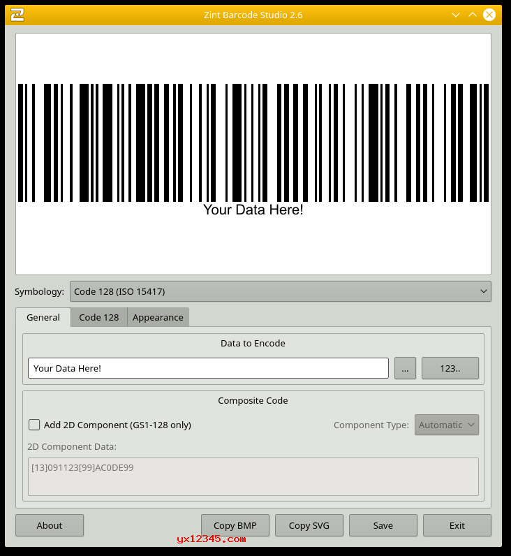 Zint Barcode Generator万能条码生成器_制作二维码和各种条形码