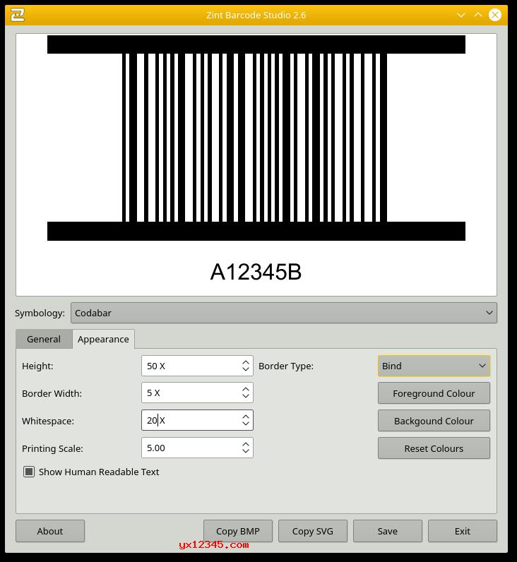制作的条码样式1
