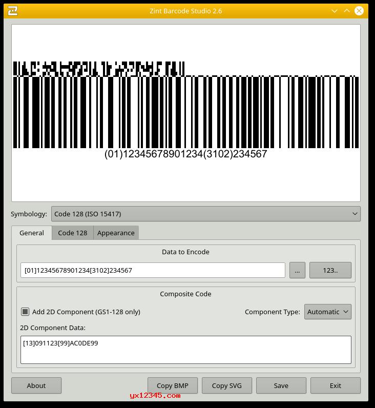 制作的条码样式2