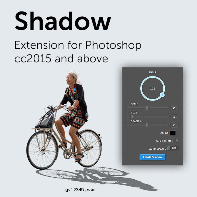 BBTools Shadow投影阴影生成制作PS插件_Shadow Photoshop Extension