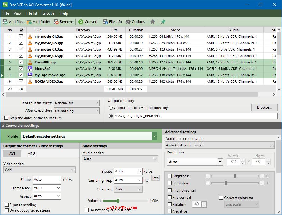 免费3GP/3GPP/3G2视频转AVI或MPG工具_Pazera Free 3GP to AVI Converter