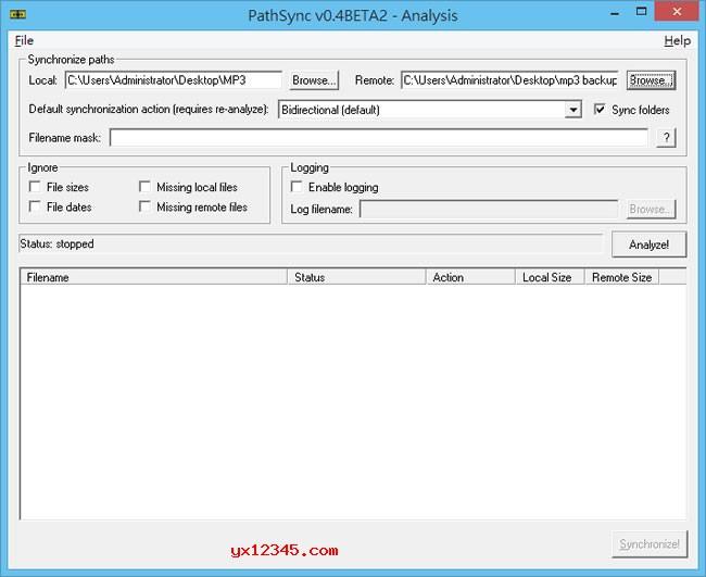 PathSync同步文件夹教程
