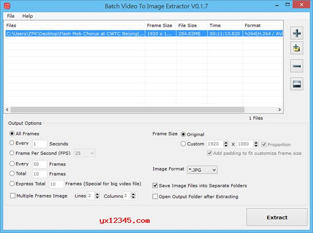 Batch Video To Image Extractor软件使用教程