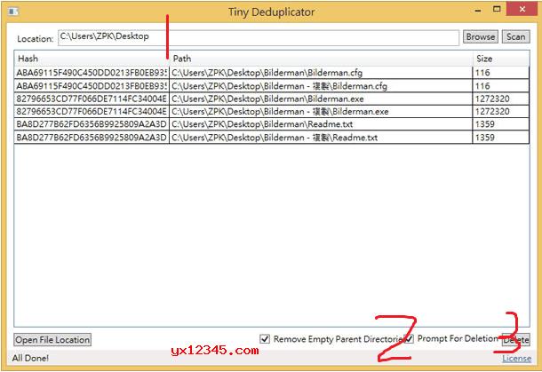 Tiny Deduplicator扫描删除重复文件工具_扫描电脑中的重复文件