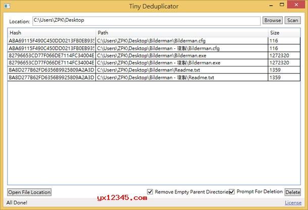 Tiny Deduplicator扫描删除重复文件教程