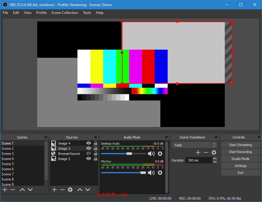 OBS Studio主界面截图