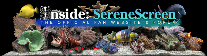 marine aquarium屏保海报