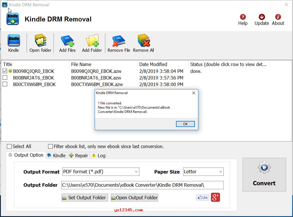 Kindle DRM Removal破解版主界面截图