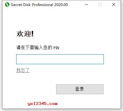 secret disk输入PIN码界面
