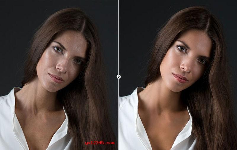 人物脸部美容效果展示