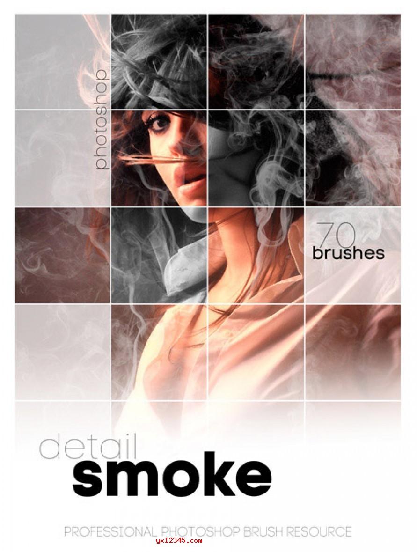PS烟雾、火焰、燃烧笔刷(Rons Detail Smoke)下载
