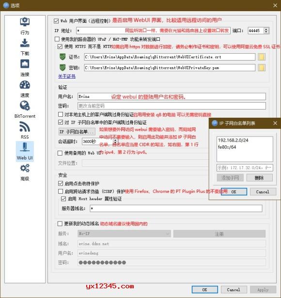 qBittorrent参数设置图解7