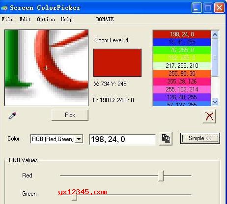 Screen Color Picker屏幕颜色拾取器_提取屏幕上任何位置的颜色值