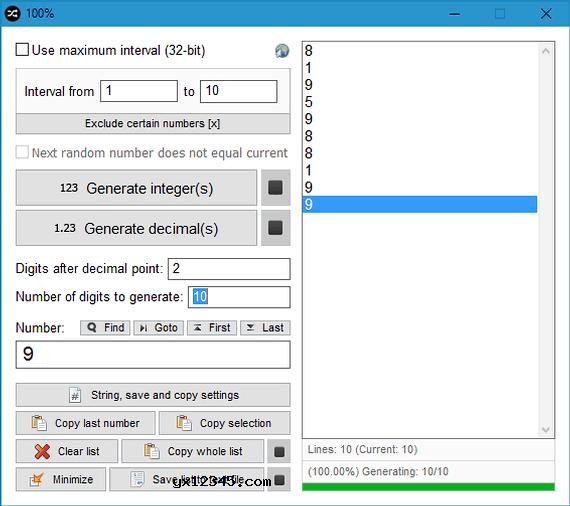 Random Number Generator随机数生成器_随机生成整数或十进制数