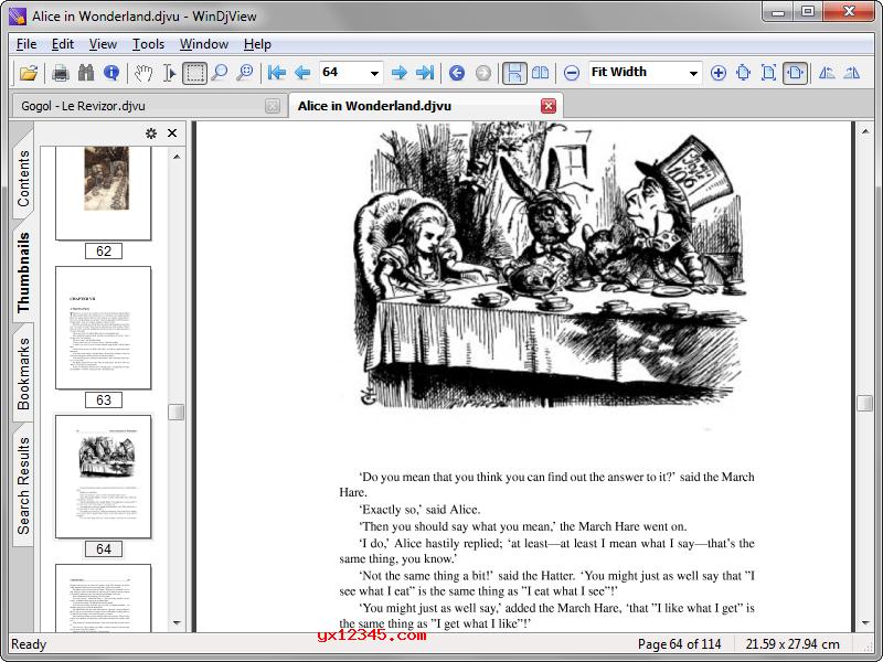 WinDjView打开阅读djvu文件效果展示