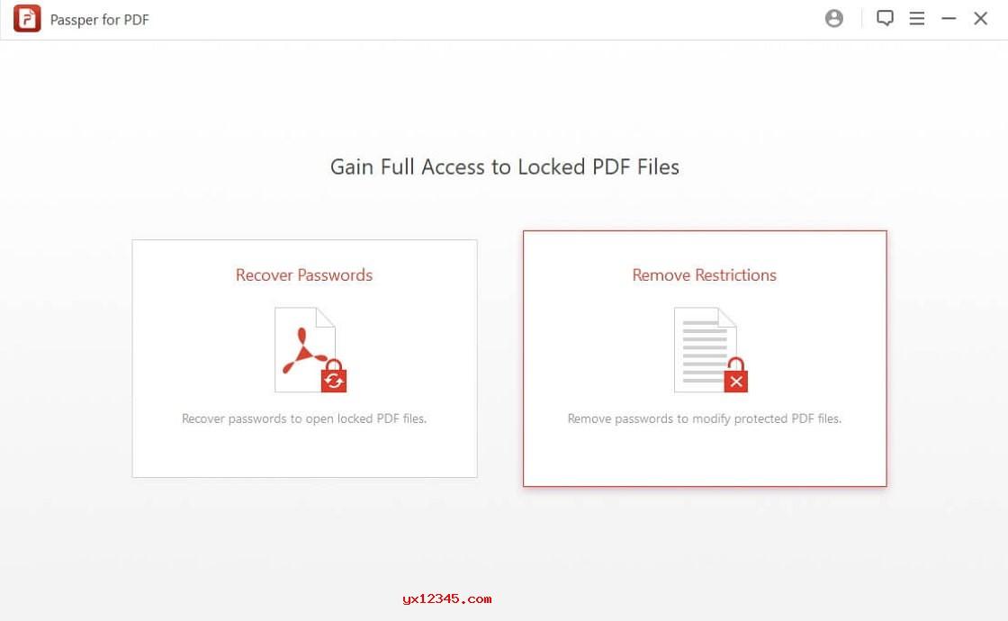 Passper for PDF去除pdf限制教程